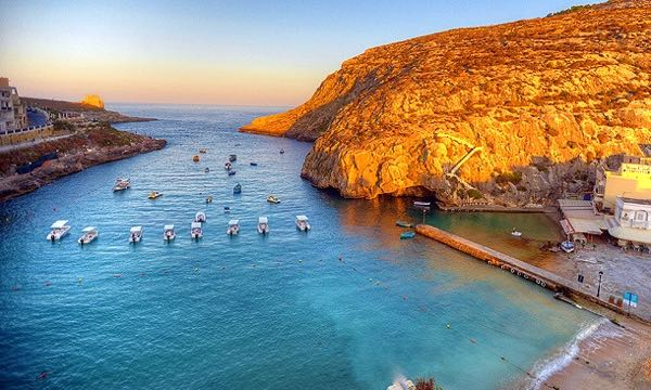 One of Gozo's pretty bays